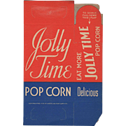 Vintage Jolly Time Popcorn Box - Never Used