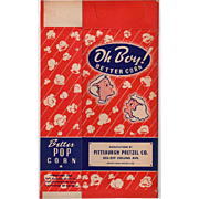 Vintage Popcorn Box - Oh Boy! Better Corn - Graphics with Children - Unused