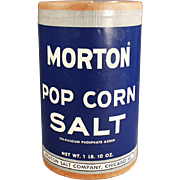 Vintage Morton Pop Corn Salt Box ca. 1950's