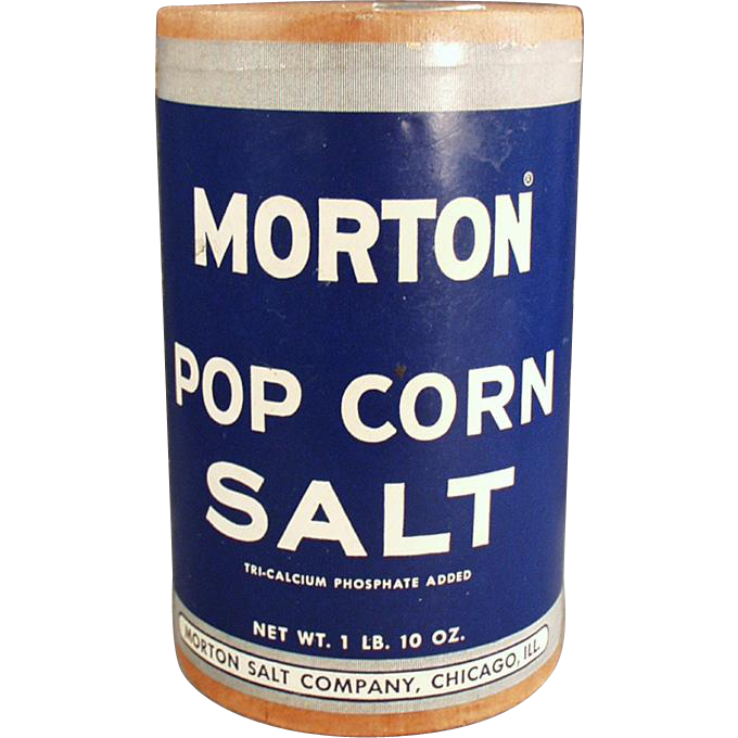 Vintage Morton Pop Corn Salt Box ca. 1950's