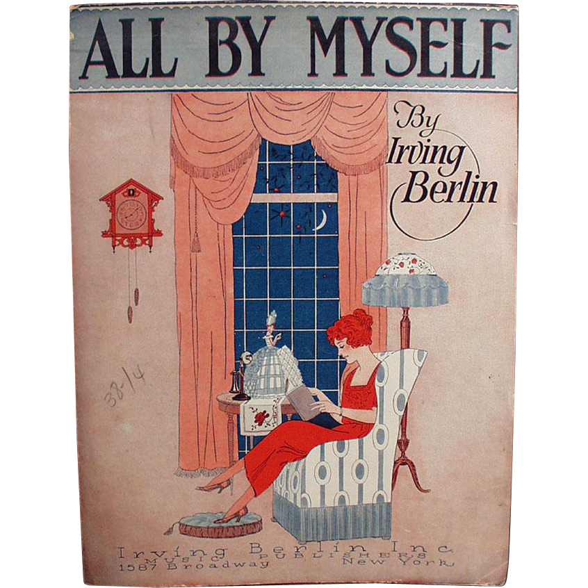 Vintage Sheet Music - All By Myself by Irving Berlin