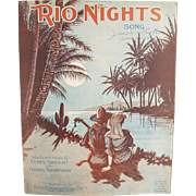 Vintage Sheet Music - Rio Nights - Nice Graphics
