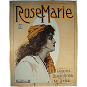 Vintage Sheet Music - Rose Marie - 1908