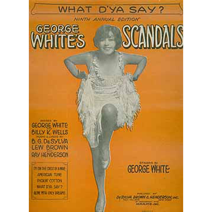Vintage Sheet Music - What D'Ya Say? from Scandals
