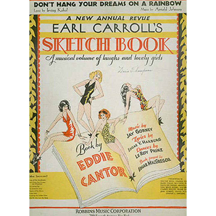 Vintage Sheet Music - Don't Hang Your Dreams On A Rainbow