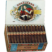 Vintage Advertising Sign - Arthur Donaldson Pilsen Cigars - Cardboard