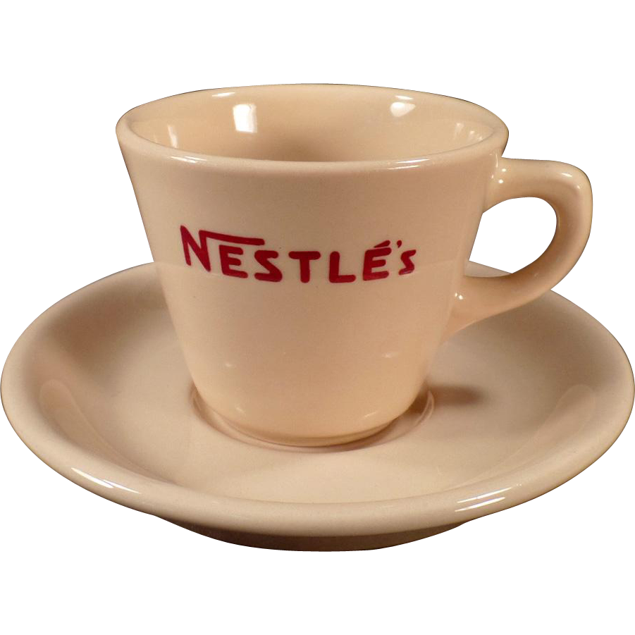Vintage Nestle's Hot Chocolate Cup and Saucer