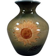 Vintage Wade Ireland Art Pottery Vase - Mourne Range with Sunflower