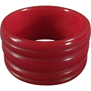 Vintage Red Bakelite Napkin Ring
