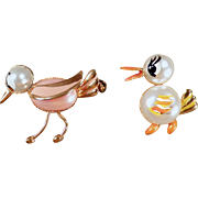 Vintage Scatter Pins - Two Little Birds from Spain