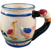 Child's Vintage Milk Cup - Duckie Likes Milk Too