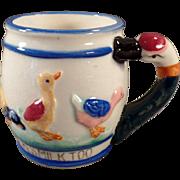 Child's Vintage Milk Cup - Duckie Likes Milk Too