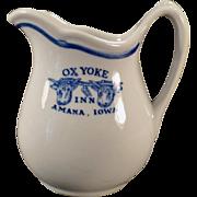 Vintage Advertising Restaurant China - Ox Yoke Inn Cream Pitcher