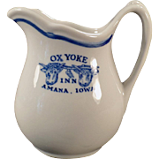 Vintage Advertising Restaurant China - Ox Yoke Inn Cream Pitcher