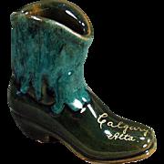 Vintage Pottery Boot - Calgary Souvenir - Attractive Glaze