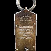 Vintage Hanging Scale - Landers Improved No.2 - 50 Pound Measure