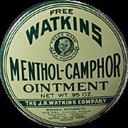 Vintage Sample Tin - Watkins Menthol-Camphor Ointment