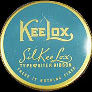 Vintage Typewriter Ribbon Tin - KeeLox SilKee Lox