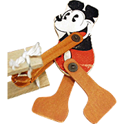 Vintage Pie-eyed Mickey Mouse - Wood Trapeze Toy