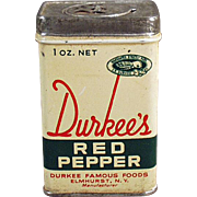 Vintage Spice Tin - Durkee's Red Pepper