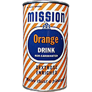 Vintage Advertising Bank - Mission Orange Soda Can Tin
