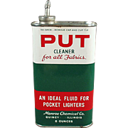 Vintage Tin - Put Cleaner and Lighter Fluid