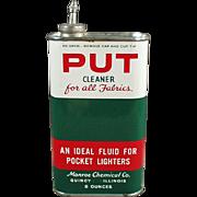 Vintage Tin - Put Cleaner and Lighter Fluid