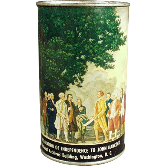 Vintage Tin Bank - Declaration of Independence - American Can Company
