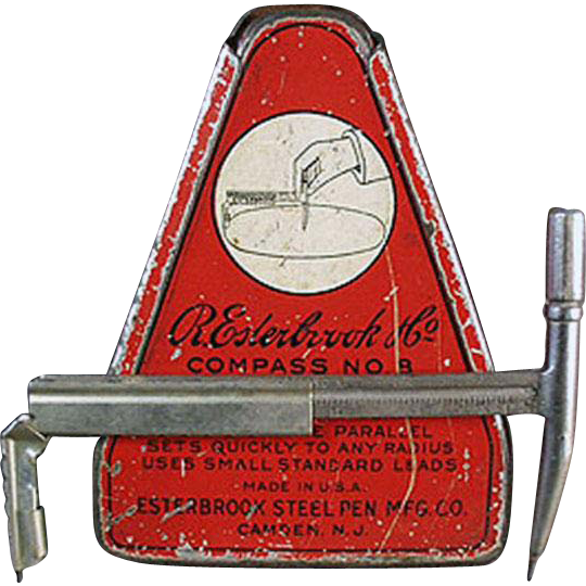 Vintage Esterbrook Drafting Compass with Original Tin - 1920's
