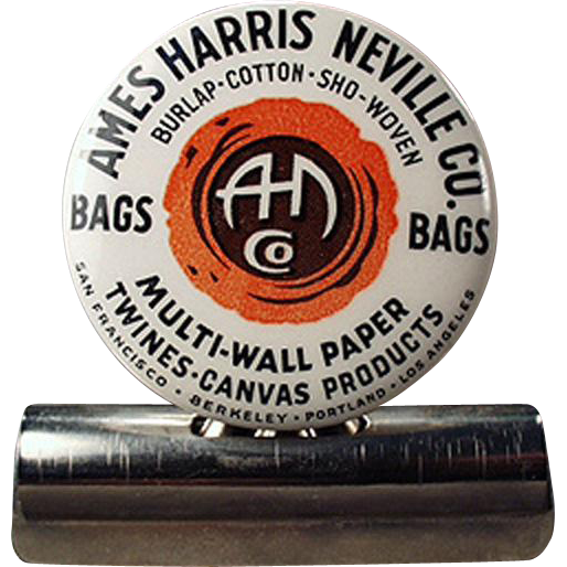 Vintage Advertising Bill Clip - Ames Harris Neville - Celluloid