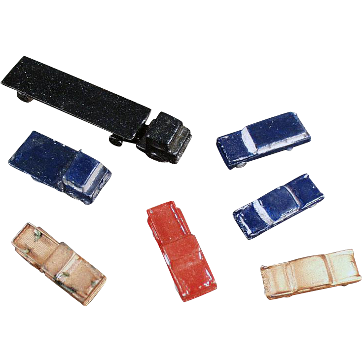 Vintage Die Cast Miniature Automobiles for Architectural Models