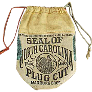 Vintage Tobacco Pouch - Seal of North Carolina Tobacco