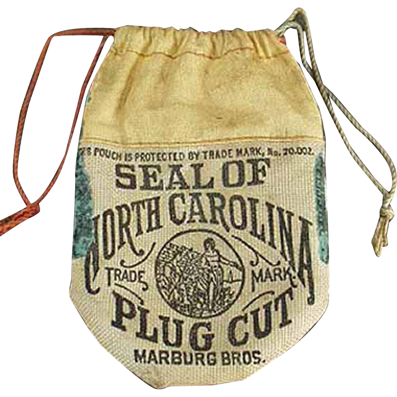 Vintage Tobacco Pouch - Seal of North Carolina Tobacco