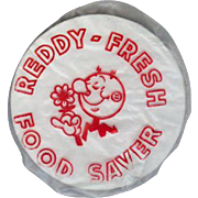 Vintage Reddy Kilowatt Adverttising - Plastic Food Saver