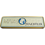 Vintage Metal Pencil Box - Mars Staedtler - Germany