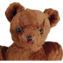 Vintage Teddy Bear - Cinnamon Brown with Shoe Button Eyes