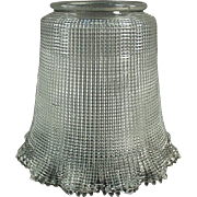 "Vintage Light Fixture Shade - Heavily Ribbed - 3 ¼"" Neck"