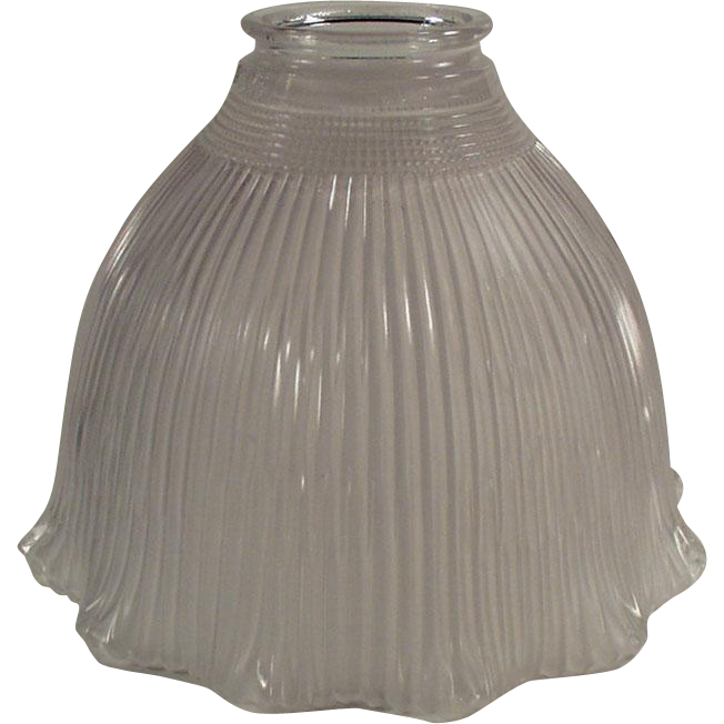 Vintage Light Fixture Shade - Single Frosted Holophane I-5