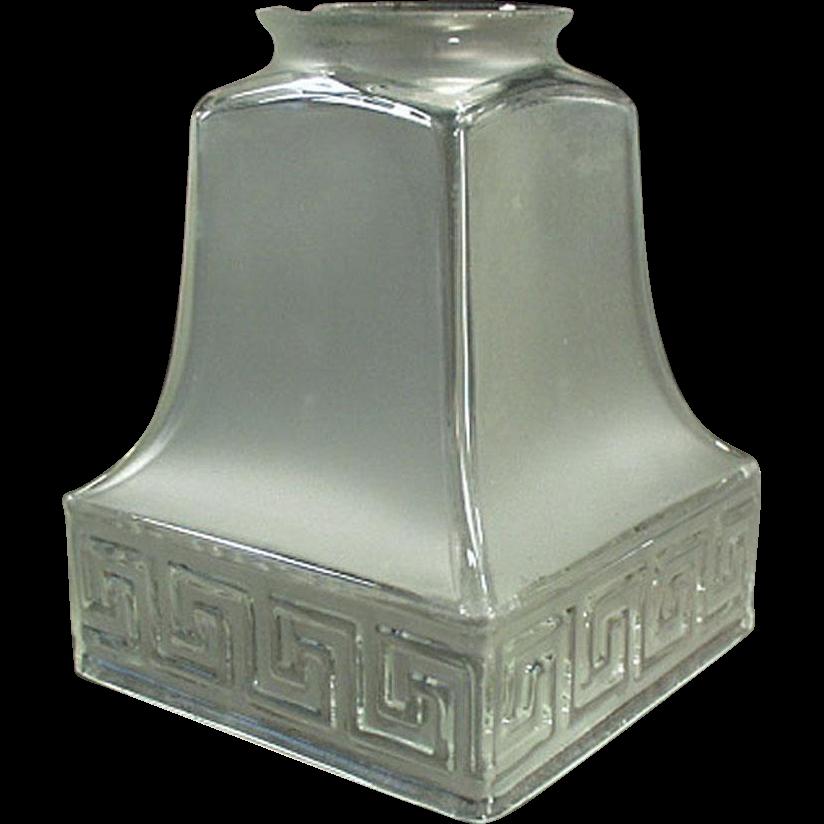 Vintage Light Fixture Shade - Single - Greek Key Design