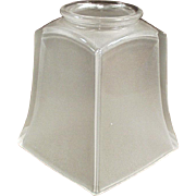 Vintage Light Fixture Shade - Frosted Deco Style - Single