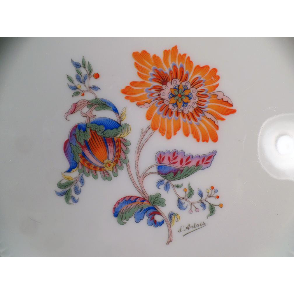 Vintage Royal Limoges France - Persan Rouge Dinner Plate - 4 Available