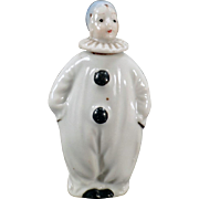 Vintage Porcelain Perfume Bottle - Little Clown / Pierrot Figurine