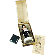 Vintage Porcelain Smoking Novelty - Lord Poffy with Original Box - Western Germany