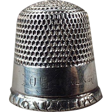 Vintage Sterling Silver Sewing Thimble - Goldsmith Stern - Simple Design