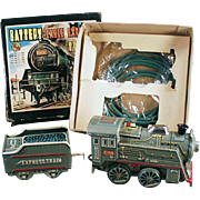 Vintage Battery Operated Toy Train - Express Train with Original Box