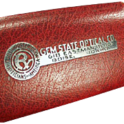 Vintage Eyeglass Case -Gem State Optical - Boise, Idaho Advertising