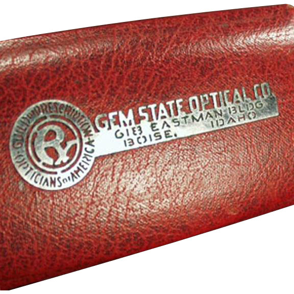 Vintage Eyeglass Case -Gem State Optical - Boise, Idaho Advertising