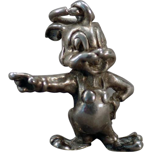 Vintage Silver Charm - Oswald the Lucky Rabbit