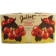 Vintage Candy Box - Juliet Cherry Cordials by Mrs. Franklin's Kitchen of Chicago
