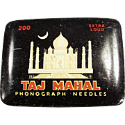 Vintage Phonograph Needle Tin - Taj Mahal - Nice Graphics